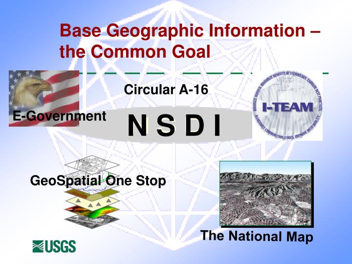 Base Geographic Information – the Common Goal