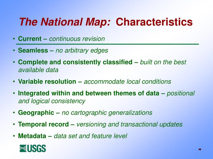 The National Map: