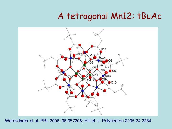 A tetragonal Mn12: tBuAc