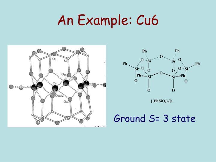 An Example: Cu6