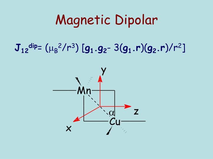 Magnetic Dipolar