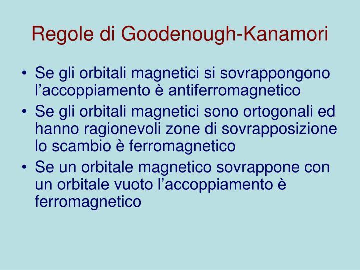 Regole di Goodenough-Kanamori