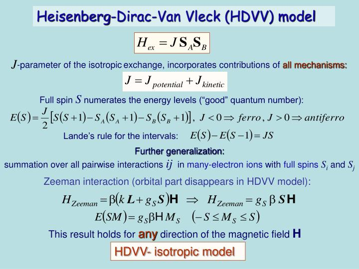-parameter of the isotropic