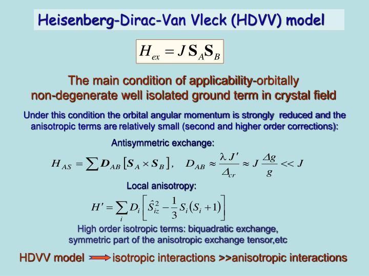 HDVV model