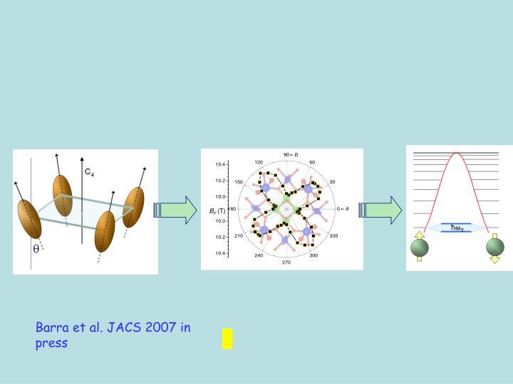 Barra et al. JACS 2007 in press