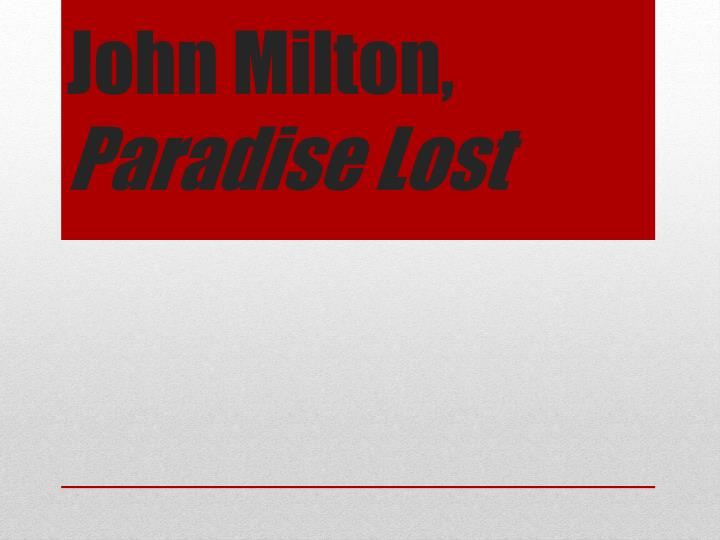 analysing john miltons writing style in paradise lost Welcome to the litcharts study guide on john milton's paradise lost created by   a concise biography of john milton plus historical and literary context for  paradise lost  in-depth summary and analysis of every section of paradise  lost.