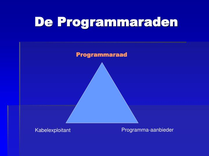 De Programmaraden