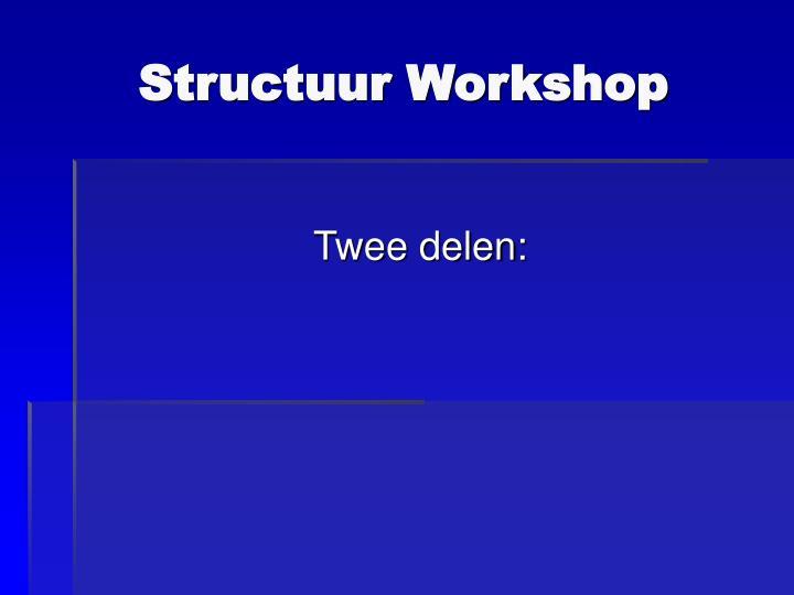 Structuur Workshop