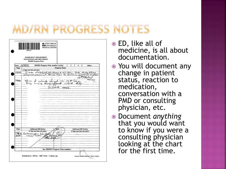 MD/RN Progress Notes