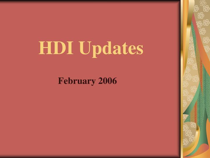 HDI Updates
