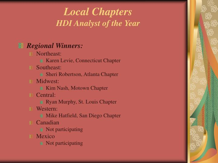Local chapters hdi analyst of the year