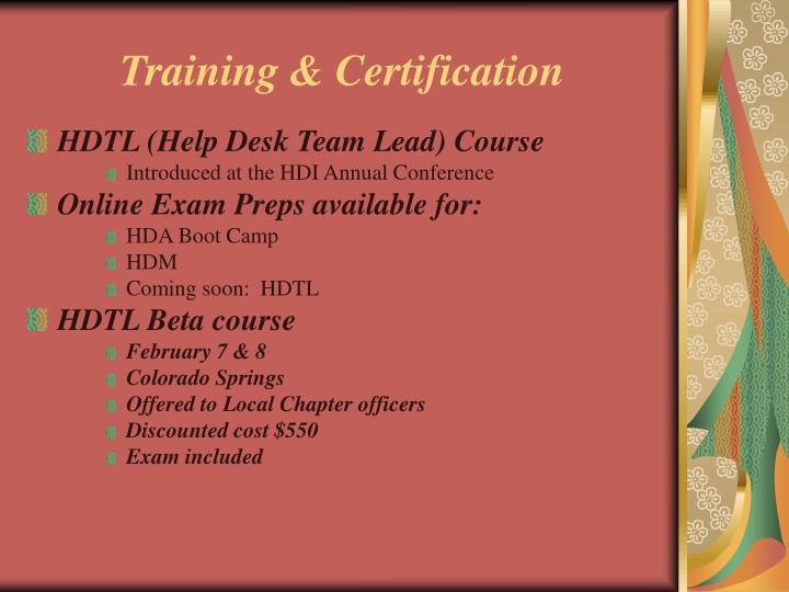 Training & Certification