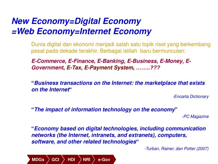 New Economy=Digital Economy
