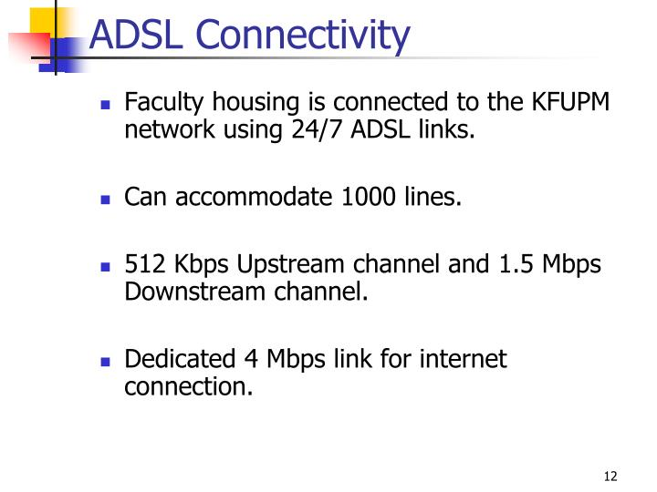 ADSL Connectivity