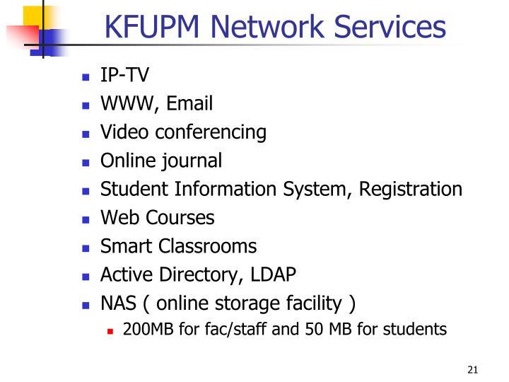 KFUPM Network Services