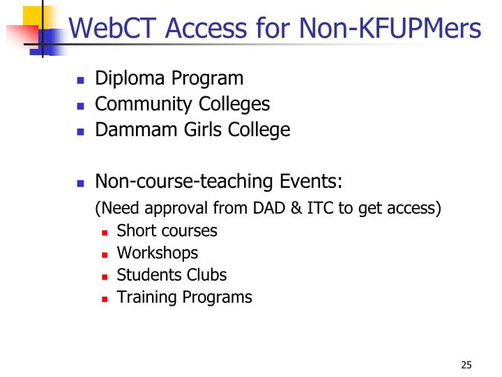 WebCT Access for Non-KFUPMers