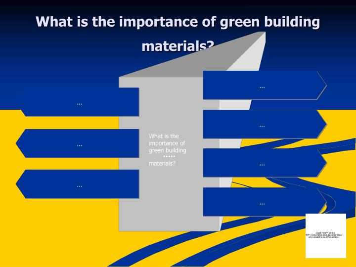 What is the importance of green building materials?