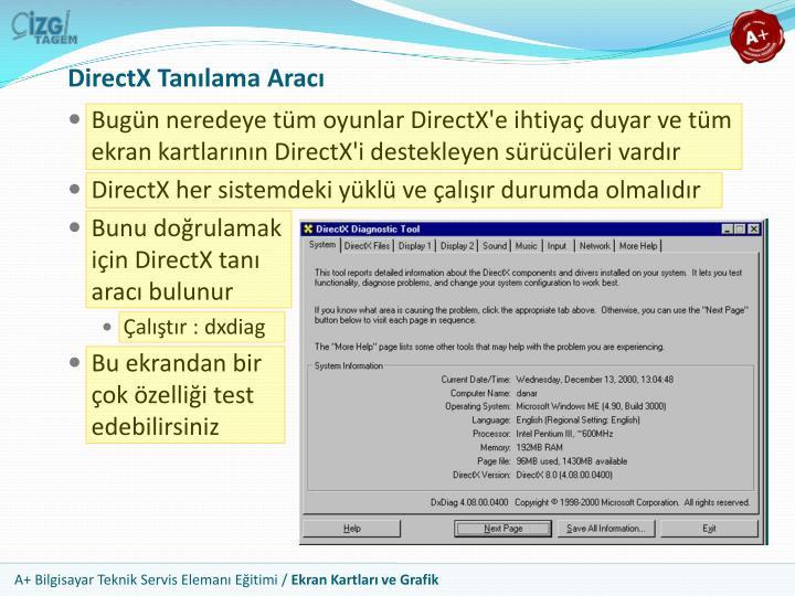 DirectX Tanılama Aracı