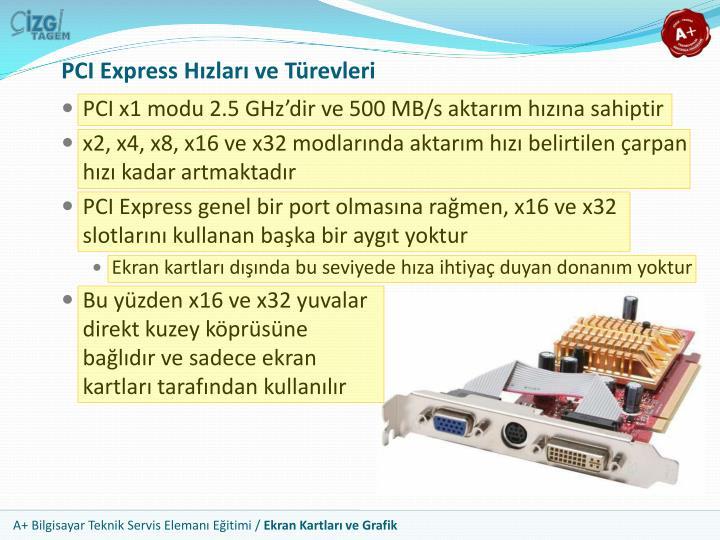 PCI Express Hızları ve Türevleri