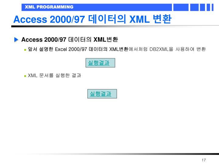 Access 2000/97
