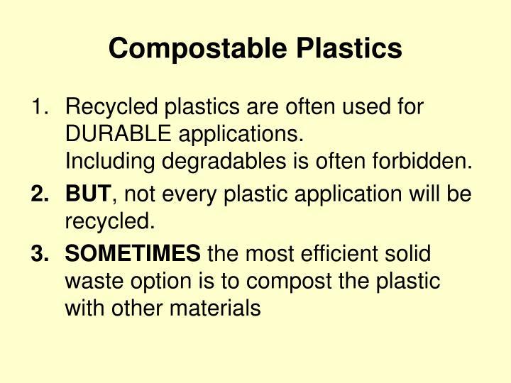 Compostable Plastics