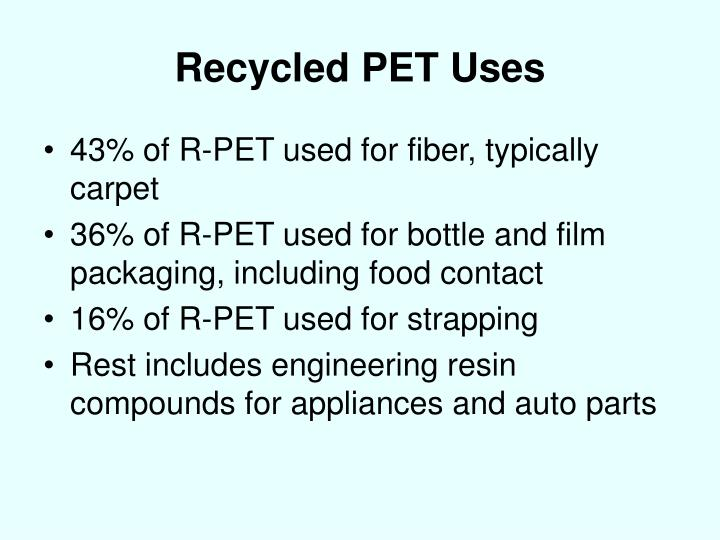 Recycled PET Uses