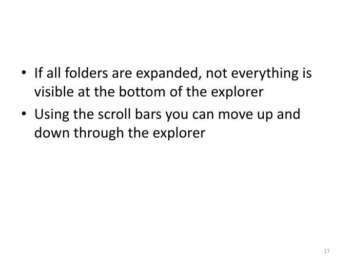If all folders are expanded