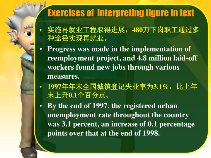 Exercises of  interpreting figure in text