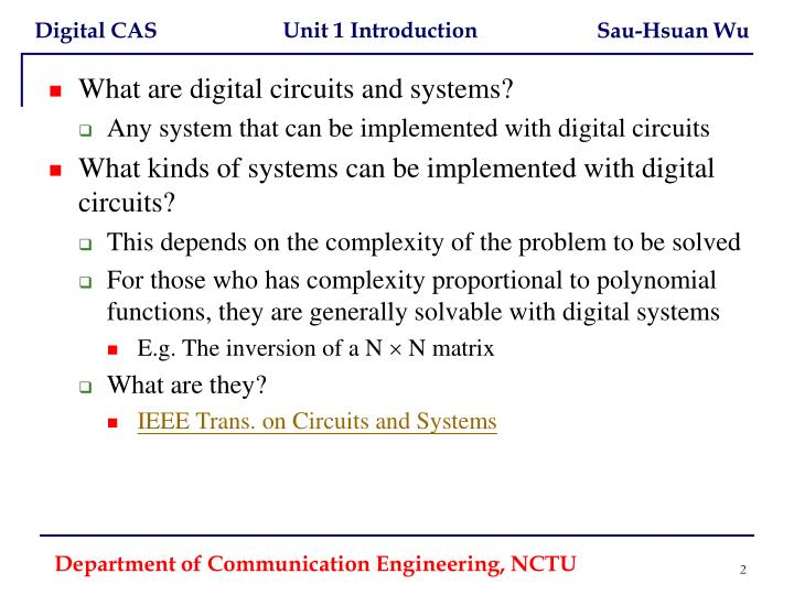 What are digital circuits and systems?
