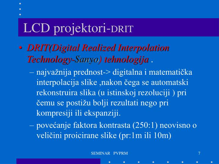 LCD projektori-