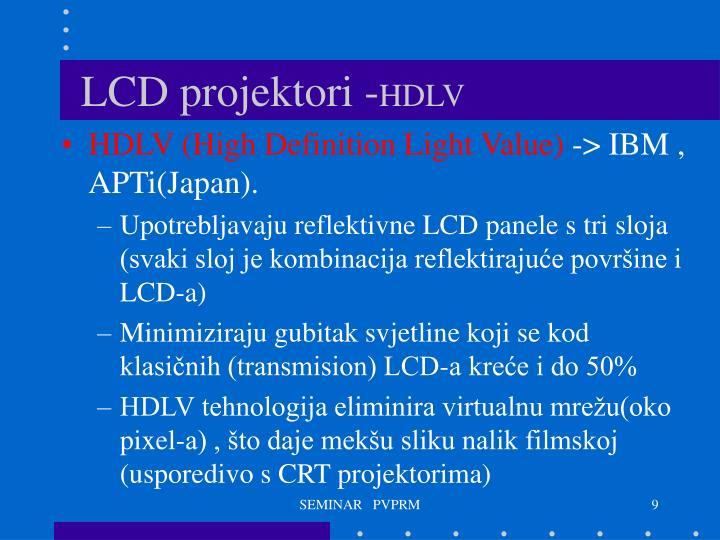 LCD projektori -