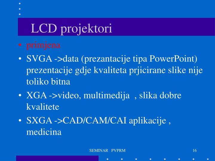 LCD projektori