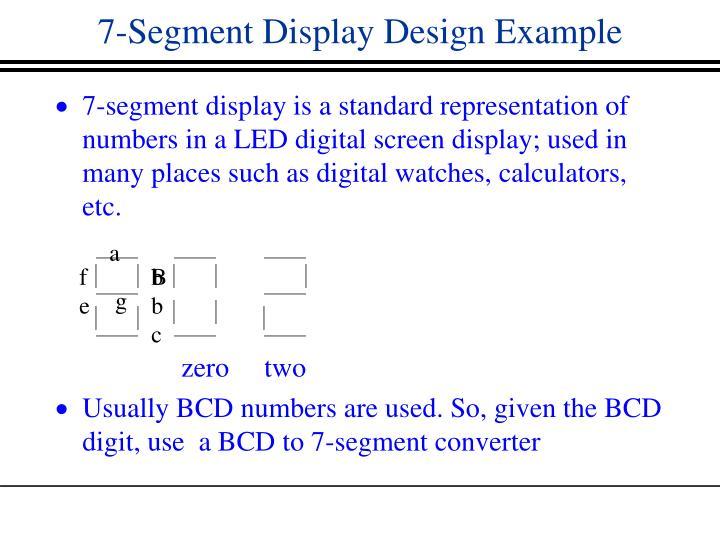 7-Segment Display Design Example