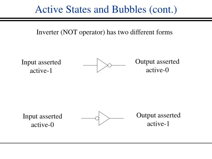 Active States and Bubbles (cont.)