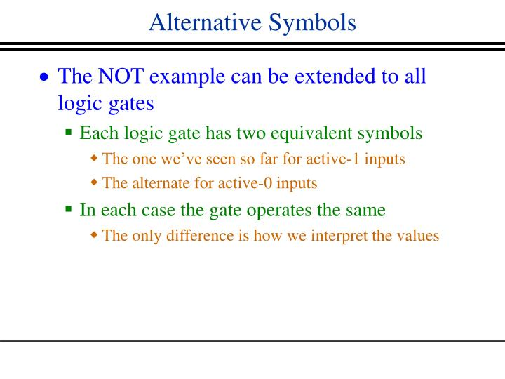 Alternative Symbols