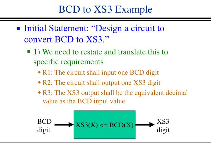 BCD to XS3 Example