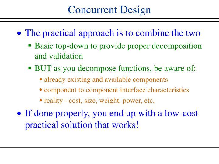 Concurrent Design