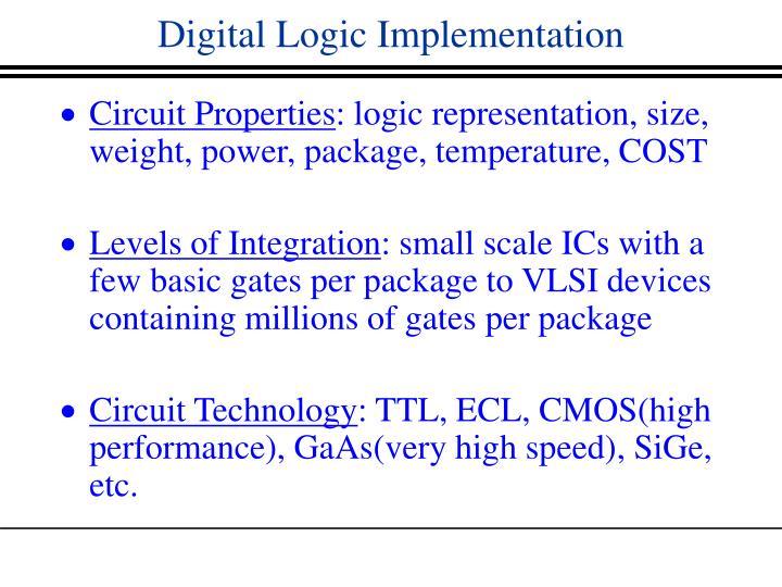 Digital Logic Implementation