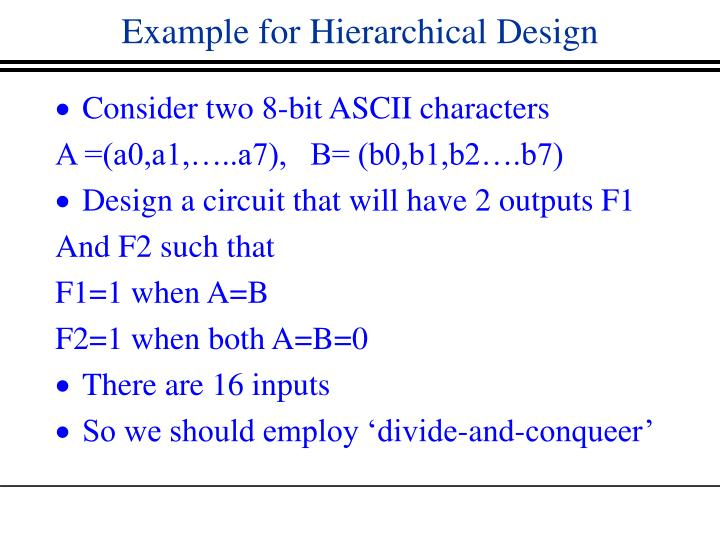 Example for Hierarchical Design