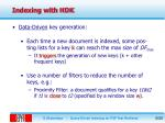 indexing with hdk