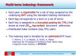 multi term indexing framework