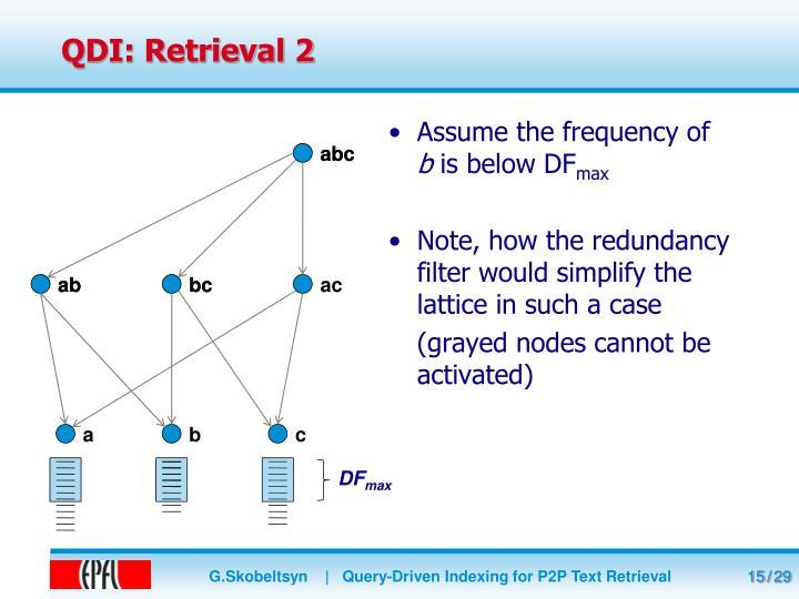 QDI: Retrieval 2