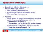 query driven index qdi