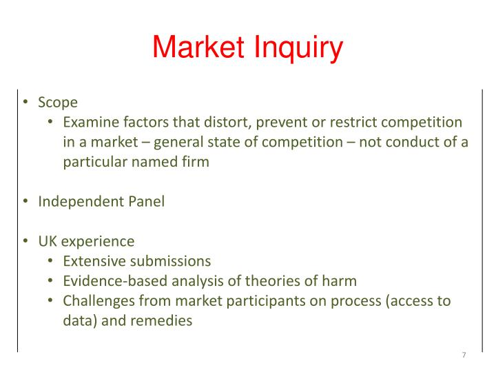 Market Inquiry
