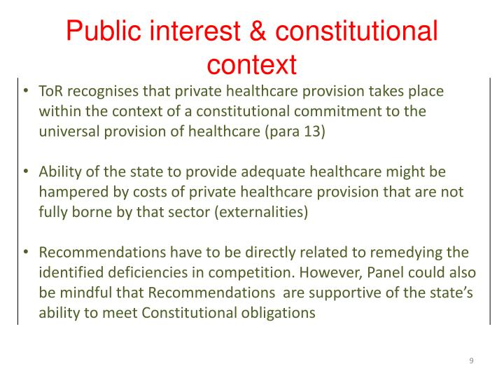 Public interest & constitutional context