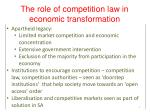 the role of competition law in economic transformation