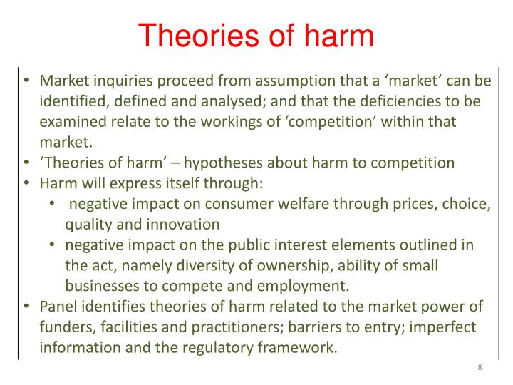 Theories of harm
