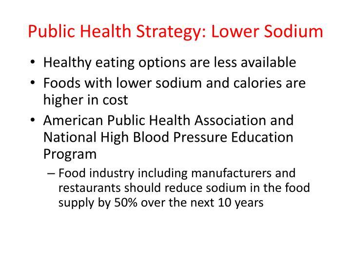 Public Health Strategy: Lower Sodium