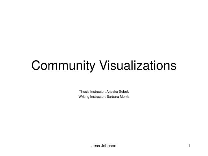 Community Visualizations