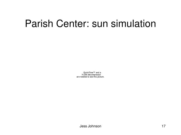 Parish Center: sun simulation